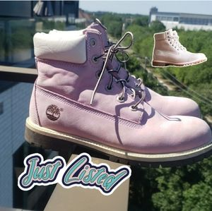 🦩just in!🦩pastel pink timberland boots